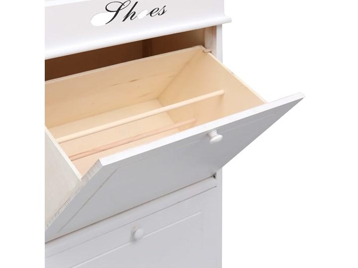 vidaXL Szafka na buty, biała, 50 x 28 x 98 cm, drewno paulownia Płyta laminowana Pomieszczenie Sypialnia Płyta MDF Pomieszczenie Przedpokój