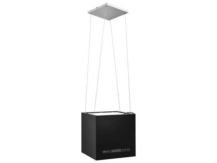 vidaXL Wiszący okap nad wyspę, dotykowy LCD, 37 cm, stal Okap wyspowy Kategoria Okapy Kolor Czarny