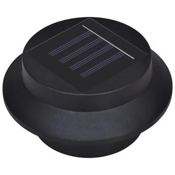 vidaXL Solarne lampy ogrodzeniowe LED, 12 szt., czarne