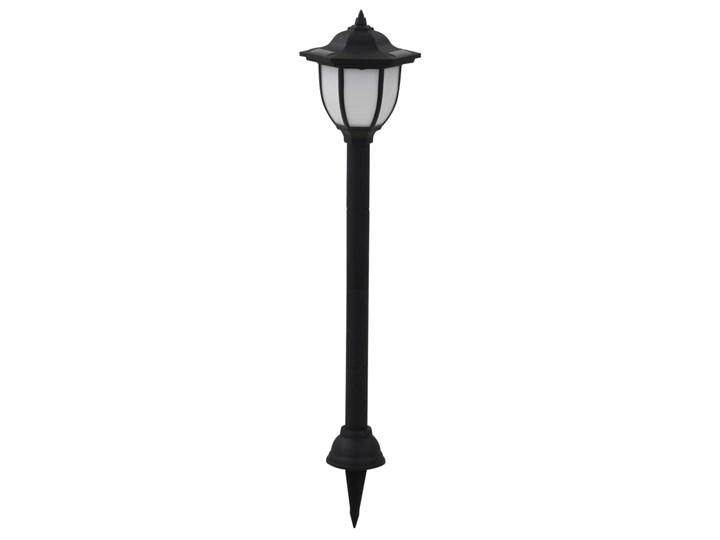 vidaXL Lampy solarne do ogrodu, 6 szt., LED, czarne Lampa solarna Lampa LED Kolor Czarny