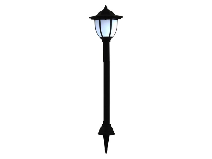 vidaXL Lampy solarne do ogrodu, 6 szt., LED, czarne Lampa solarna Lampa LED Kolor Czarny Kategoria Lampy ogrodowe