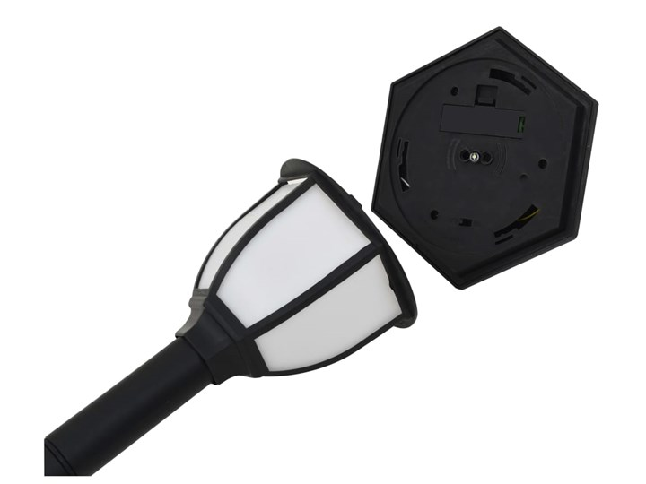 vidaXL Lampy solarne do ogrodu, 6 szt., LED, czarne Lampa LED Lampa solarna Kolor Czarny Kategoria Lampy ogrodowe
