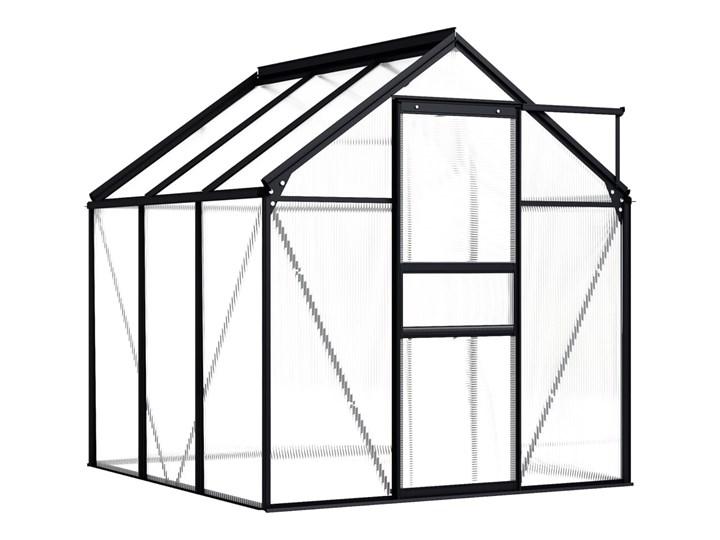 vidaXL Szklarnia, antracytowa, aluminium, 3,61 m² Szklarnia ogrodowa Kategoria