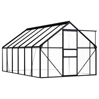 vidaXL Szklarnia, antracytowa, aluminium, 7,03 m²