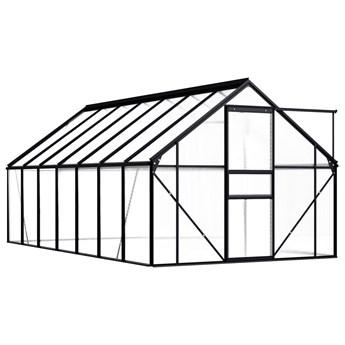 vidaXL Szklarnia, antracytowa, aluminium, 8,17 m²