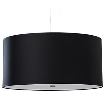 Czarny okrągły żyrandol z abażurem 50 cm - EX689-Otti