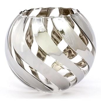 Klosz szklany Zebra kula D145 chrom