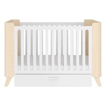 Białe łóżeczko dziecięce z szufladą BELLAMY Hoppa