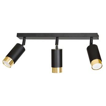 HIRO 3 BLACK-GOLD 965/3 nowoczesny regulowany spot LED sufitowy czarno złoty