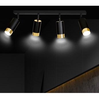 HIRO 4 BLACK-GOLD 965/4 nowoczesny regulowany spot LED sufitowy czarno złoty