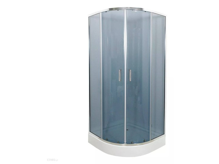 Kabi Kabina prysznicowa Ideal 80 półokrągła R55 z niskim brodzikiem