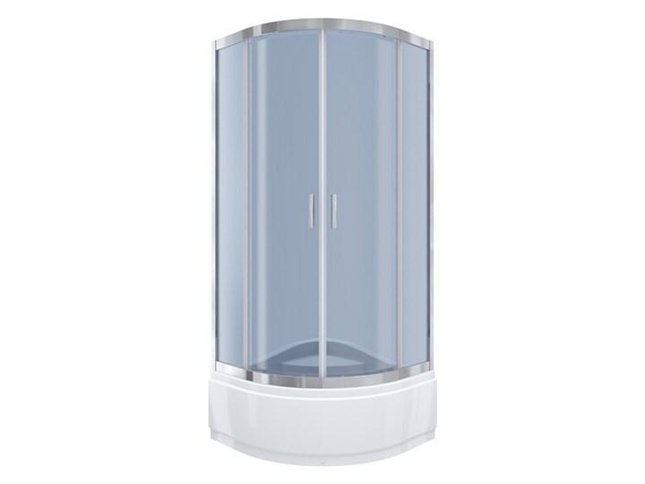 Kabi Kabina prysznicowa Ideal 80 półokrągła R55 z wysokim brodzikiem