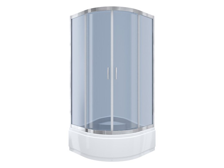 Kabi Kabina prysznicowa Ideal 90 półokrągła R55 z wysokim brodzikiem