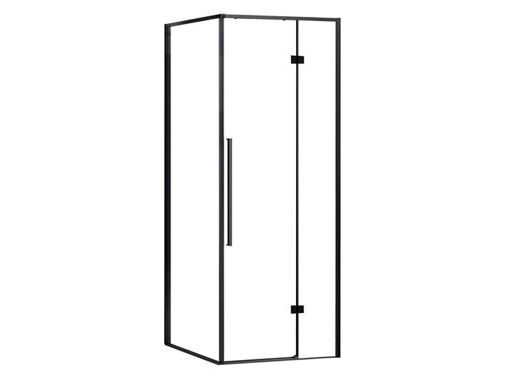 KABI Kabina prysznicowa Largo 90x90 PRAWA, kwadratowa, czarny mat