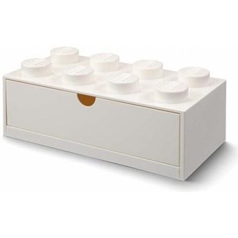 Pudełko na klocki Lego Desk Drawer 8 biały
