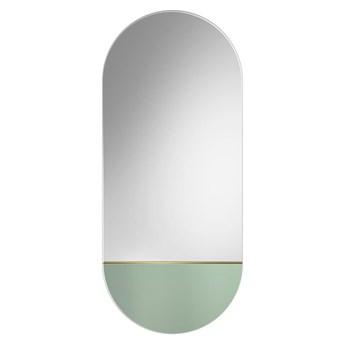 Lustro Novi jasnozielone – owalne z kolorową wstawką