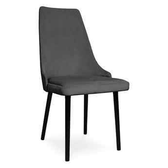 Bettso krzesło tapicerowane COTTO VELVET ciemny szary / PA06