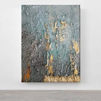TURQUOISE ACCENT - Wielkoformatowy obraz na płótnie abstrakcyjny art&texture™ 100x150cm
