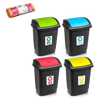 Kosz do segregacji śmieci SWING z pokrywą 25 L + worki na śmieci 35 L GRATIS - oficjalny sklep internetowy YORK