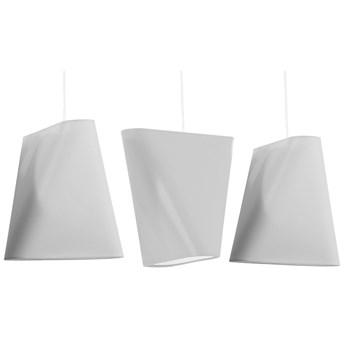Biały potrójny żyrandol na listwie - EX705-Blux