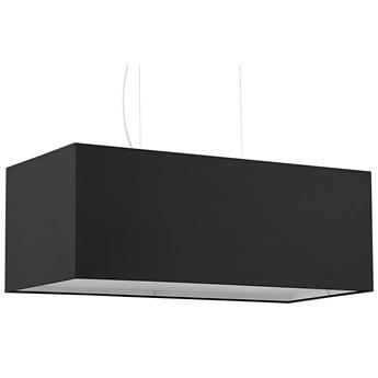 Czarny żyrandol z prostokątnym abażurem - EX706-Santex
