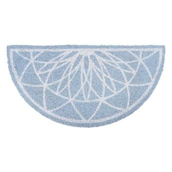 Niebieska półokrągła wycieraczka z włókna kokosowego PT LIVING Fairytale coir