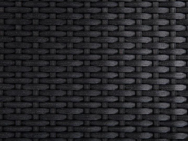 Zestaw mebli ogrodowych jadalniany szary stół granit/bazalt 220 x 100 cm 8 czarnych krzeseł z technorattanu sztaplowanych Kolor Srebrny Stoły z krzesłami Stal Kategoria Zestawy mebli ogrodowych