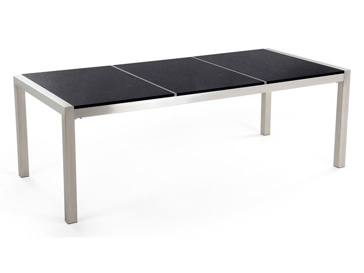 Zestaw mebli ogrodowych jadalniany czarny stół granit/bazalt 220 x 100 cm 8 krzeseł z technorattanu sztaplowanych Stal Stoły z krzesłami Zawartość zestawu Krzesła Kategoria Zestawy mebli ogrodowych