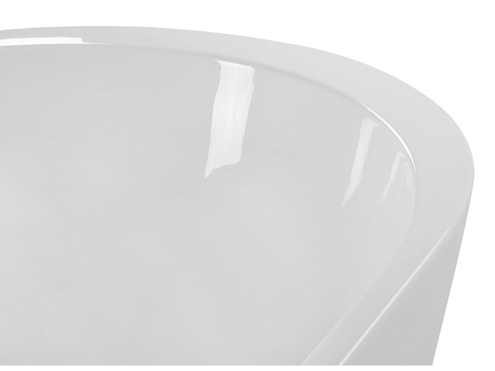 Wanna wolnostojąca biała akrylowa 170 x 80 cm system przelewowy owalna retro Wolnostojące Kolor Biały