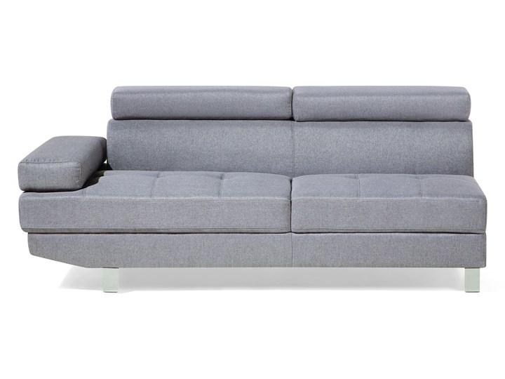 Narożnik lewostronny jasnoszary tapicerowany 5 osobowa sofa z regulowanymi zagłówkami Boki Z bokami Szerokość 261 cm Kategoria Narożniki