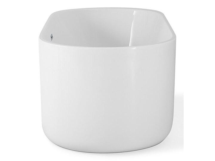 Wanna wolnostojąca biała akrylowa 170 x 80 cm system przelewowy owalna współczesna Wolnostojące Długość 170 cm Kolor Biały