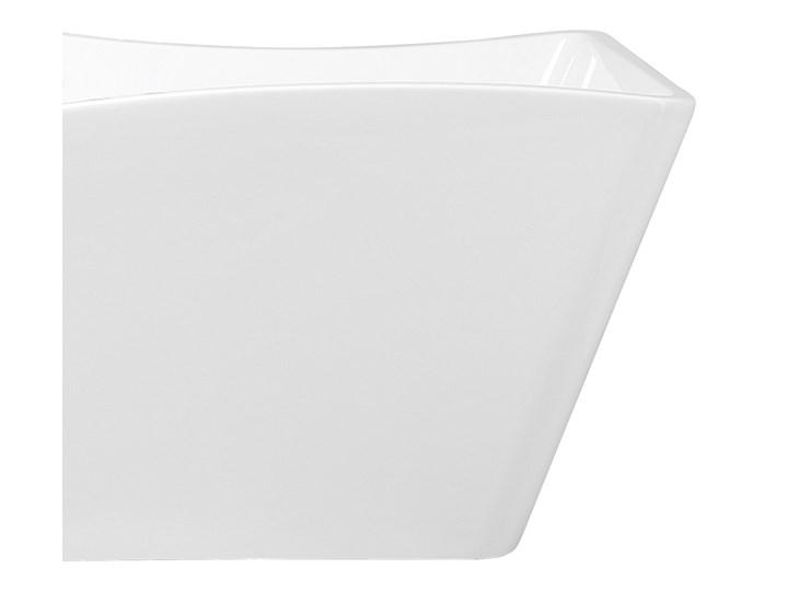 Wanna wolnostojąca biała akrylowa 170 x 78 cm system przelewowy prostokątna glamour Wolnostojące Symetryczne Stal Długość 170 cm Kolor Biały
