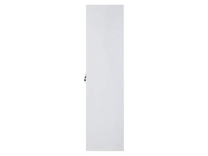 Szafa ubraniowa biała metalowa 120 x 45 x 180 cm 4 drzwi na kluczyk z półkami i drążkiem Uniwersalne Pomieszczenie Biuro i pracownia Kolor Biały