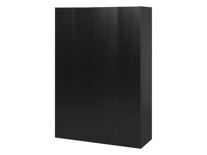 Szafa ubraniowa czarna metalowa 120 x 45 x 180 cm 4 x podwójne drzwi na kluczyk z półkami Pomieszczenie Biuro i pracownia Kolor Czarny