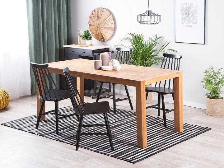 Stół do jadalni jasnobrązowy drewniany dębowy prostokątny 150 x 85 cm minimalistyczny Długość 150 cm  Drewno Pomieszczenie Stoły do jadalni