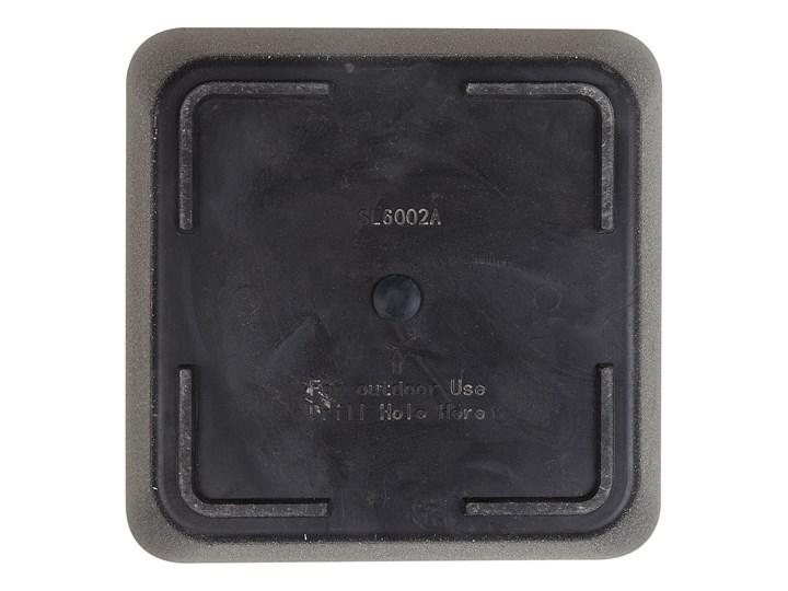 Doniczka ciemnoszara kwadratowa 34 x 34 cm do ogrodu Donica ogrodowa Kamień Kwadratowy Kategoria Donice ogrodowe