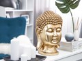 Figura dekoracyjna złota stojąca głowa Buddy 41 cm Ludzie Tworzywo sztuczne Rośliny Kolor Złoty