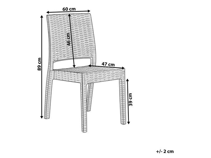Zestaw 2 krzeseł ogrodowych jasnoszary tworzywo sztuczne sztaplowane na taras do ogrodu Krzesła tradycyjne Styl Nowoczesny
