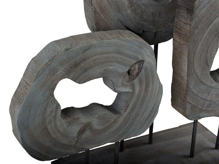 Dekoracja ozdoba figurka szara do salonu na kominek na okno Metal Drewno Kategoria Figury i rzeźby