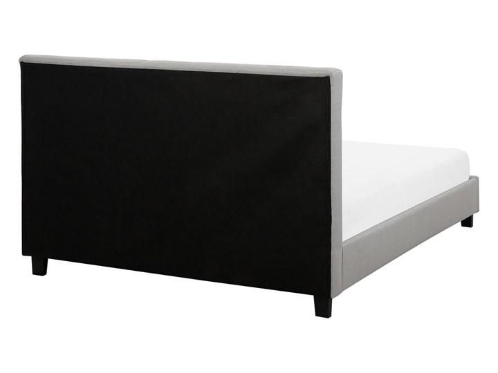 Łóżko jasnoszare tapicerowane 160 x 200 cm ze stelażem pikowany zagłówek Łóżko tapicerowane Kolor Szary