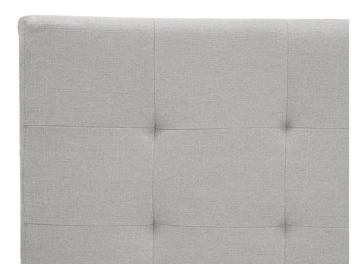Łóżko jasnoszare tapicerowane 160 x 200 cm ze stelażem pikowany zagłówek Kolor Szary Łóżko tapicerowane Kategoria Łóżka do sypialni