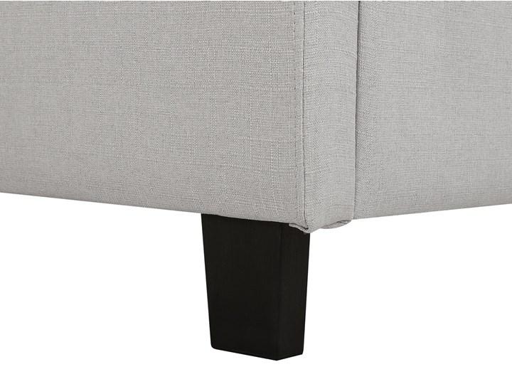 Łóżko jasnoszare tapicerowane 160 x 200 cm ze stelażem pikowany zagłówek Kategoria Łóżka do sypialni Łóżko tapicerowane Kolor Szary