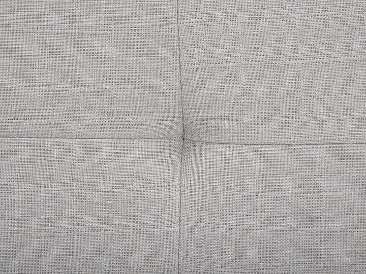 Łóżko jasnoszare tapicerowane 160 x 200 cm ze stelażem pikowany zagłówek Łóżko tapicerowane Kategoria Łóżka do sypialni