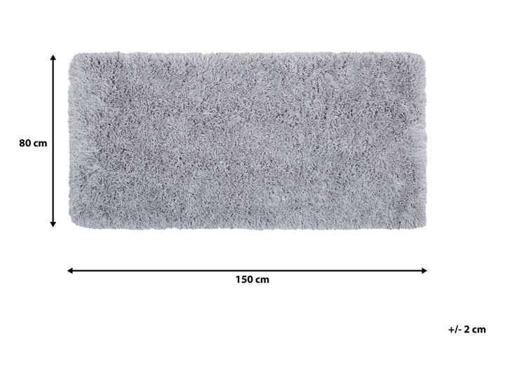 Dywan shaggy szary 80 x 150 cm puszysty włochacz Dywany Pomieszczenie Salon 80x150 cm Poliester Prostokątny Bawełna Pomieszczenie Sypialnia