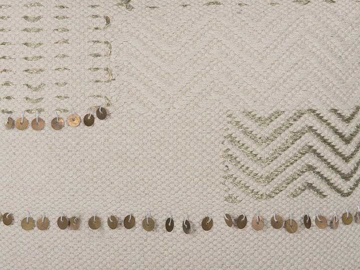 Poduszka dekoracyjna beżowa bawełniana z frędzlami 45 x 45 cm z wypełnieniem ozdobna akcesoria boho retro salon sypialnia Bawełna Kolor Beżowy Kwadratowe Poszewka dekoracyjna 45x45 cm Kategoria Poduszki i poszewki dekoracyjne