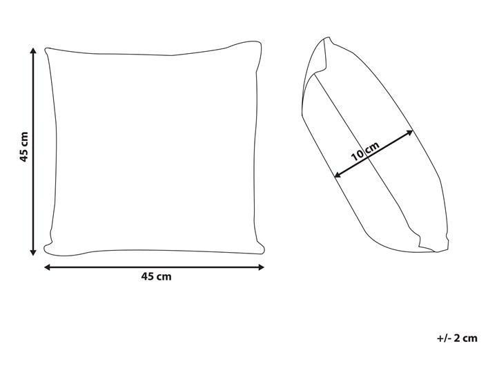 Poduszka dekoracyjna beżowa bawełniana z frędzlami 45 x 45 cm z wypełnieniem ozdobna akcesoria boho retro salon sypialnia Kwadratowe Poszewka dekoracyjna Bawełna 45x45 cm Kolor Beżowy