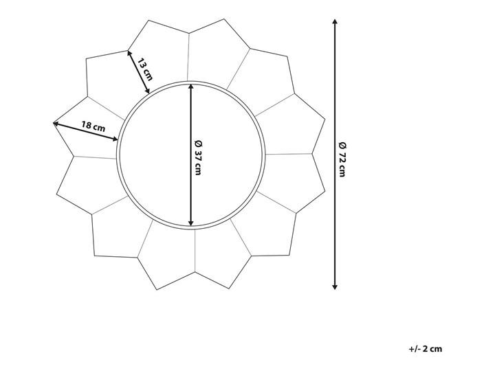 Lustro ścienne wiszące biało-miedziane 72 cm geometryczne słońce gwiazda Styl Vintage Okrągłe Lustro z ramą Pomieszczenie Salon