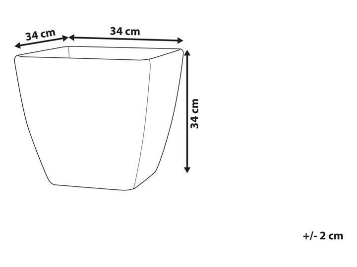 Doniczka ciemnoszara kwadratowa 34 x 34 cm do ogrodu Kamień Kwadratowy Kategoria Donice ogrodowe Donica ogrodowa Kolor Szary