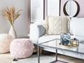 Poduszki dekoracyjne beżowe bawełniane makrama plecione 40 x 45 cm z wypełnieniem zestaw dwóch akcesoria salon sypialnia Poszewka dekoracyjna Kolor Beżowy 40x45 cm Kwadratowe Poliester Bawełna Kategoria Poduszki i poszewki dekoracyjne