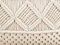 Poduszki dekoracyjne beżowe bawełniane makrama plecione 40 x 45 cm z wypełnieniem zestaw dwóch akcesoria salon sypialnia 40x45 cm Poszewka dekoracyjna Poliester Kwadratowe Bawełna Kolor Beżowy